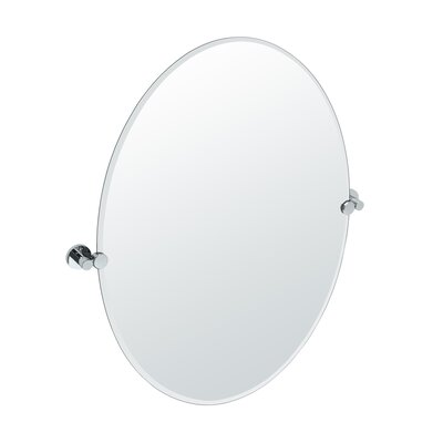 Oval Wall Mirror gatco channel oval wall mirror & reviews | wayfair