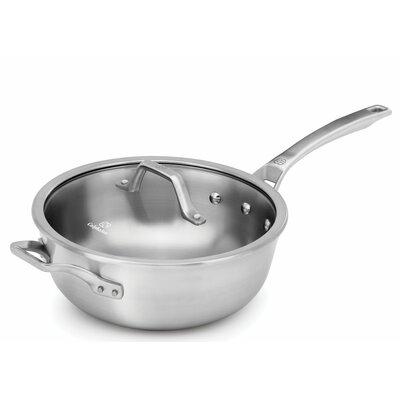 calphalon calphalon signature 4qt paella chef pan with lid u0026 reviews wayfair