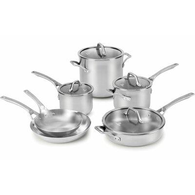 calphalon calphalon signature stainless steel 10 piece cookware set u0026 reviews wayfair