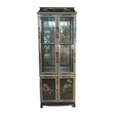 Oriental Furniture Lighted China Cabinet U0026 Reviews | Wayfair