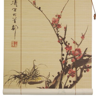bamboo roller blinds 6ft outdoor oriental furniture blossom roll up shade india