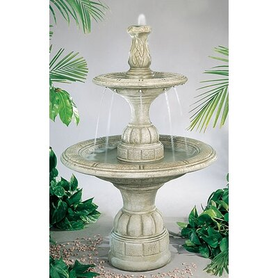 Henri Studio Tiered Concrete Small Contemporary Waterfall Fountain U0026  Reviews | Wayfair