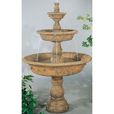 henri studio tiered concrete triple tazza waterfall fountain u0026 reviews wayfair - Waterfall Fountain