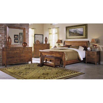 Klaussner Furniture Baxter Sleigh Customizable Bedroom Set ...