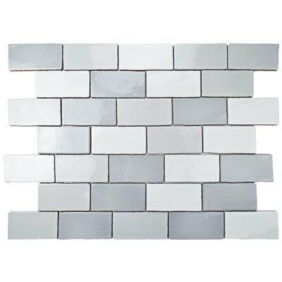 """Subway Tile elitetile antiqua 3"""" x 6"""" ceramic subway tile in craquele soho"""