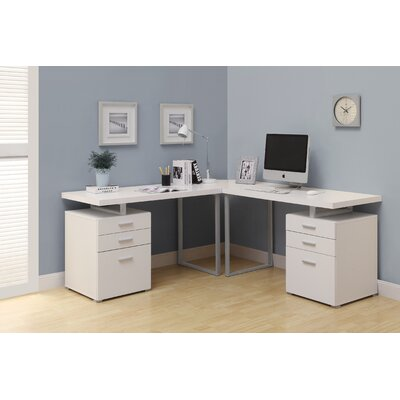 Monarch Specialties Inc LShape Corner Desk Reviews Wayfair