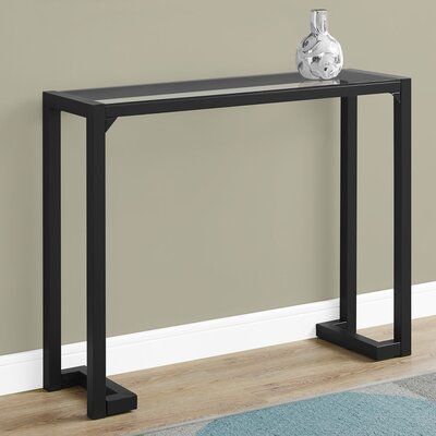 Hall Console monarch specialties inc. tempered glass hall console table