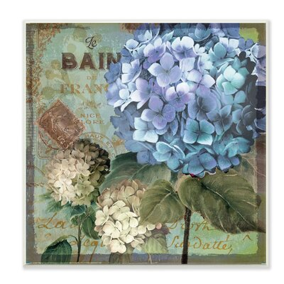 Hydrangea Wall Art stupell industries 'colorful hydrangeas with antique french
