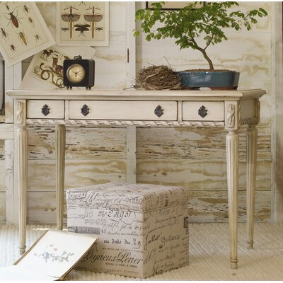 Hooker Furniture Melange Sofia Keyboard Tray Writing Desk With 3 Drawers U0026  Reviews | Wayfair