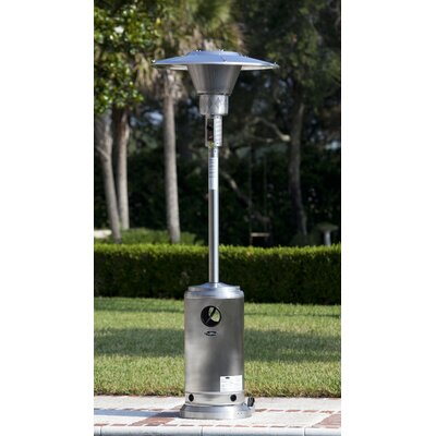 Fire Sense Stainless Steel Prime Round 45,000 BTU Propane Patio Heater U0026  Reviews | Wayfair