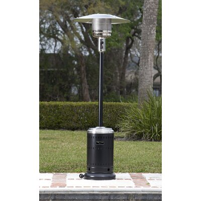 Fire Sense Hammer Tone U0026 Stainless Steel Commercial 46,000 BTU Propane Patio  Heater U0026 Reviews | Wayfair