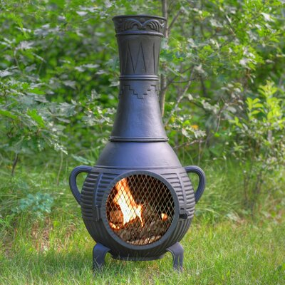 The Blue Rooster Aluminum Wood Chiminea & Reviews | Wayfair