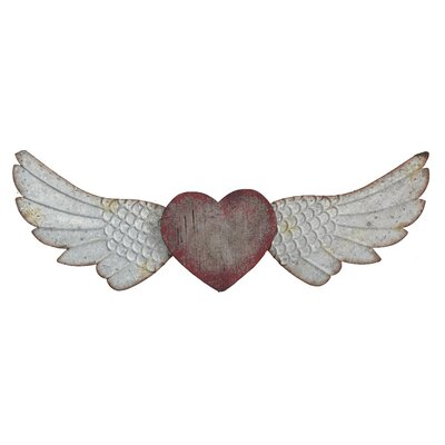 Creative Co Op Wall Decor creative co-op inspirational heart and wings wall décor & reviews