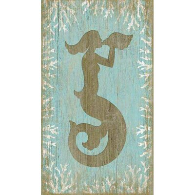 Mermaid Wood Wall Art vintage signs wood mermaid wall artsuzanne nicoll graphic art