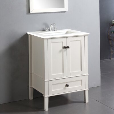 24 white bathroom vanity with top home single marble legion set