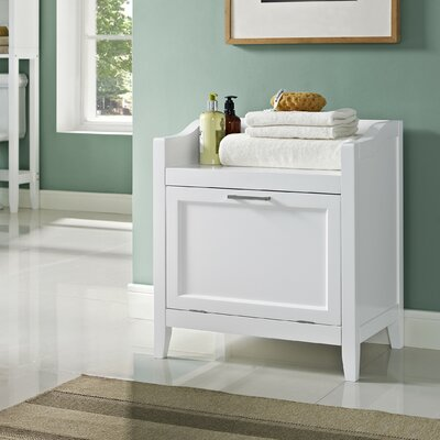 simpli home avington storage cabinet laundry hamper & reviews