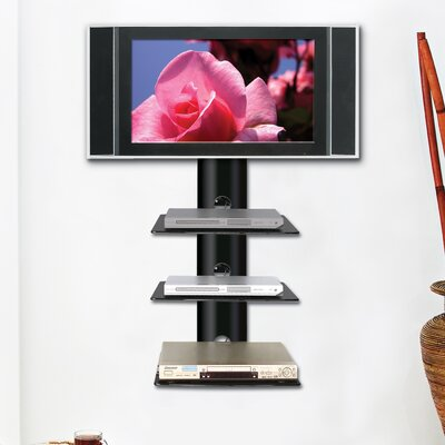 ready set mount monte carlo triple wallmount shelf system in higloss black u0026 reviews wayfair