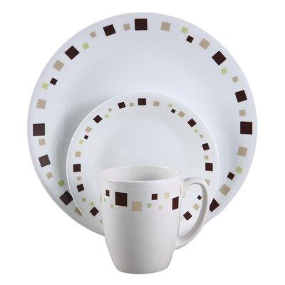 Corelle Livingware Geometric 16 Piece Dinnerware Set, Service For 4 U0026  Reviews   Wayfair