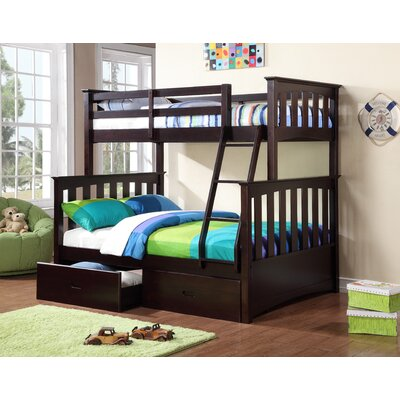 import co twin full bunk bed storage with desk underneath over wood walmart winona study