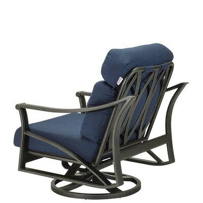 Tropitone Corsica Swivel Action Lounger Rocking Chair with Cushions ...