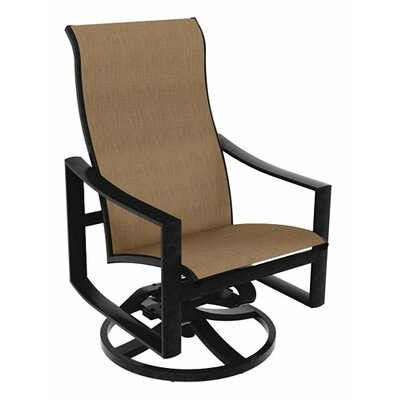 tropitone kenzo sling high back swivel rocking chair u0026 reviews wayfair - Swivel Rocker Chair