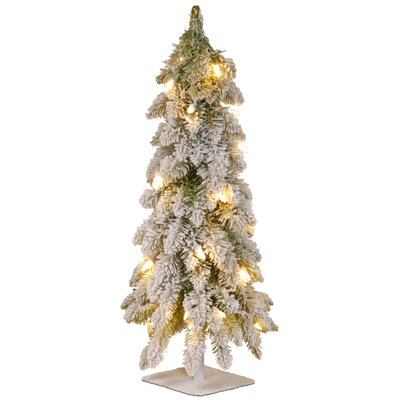 the holiday aisle 24 white artificial christmas tree with 50 clear lights reviews wayfair - White Fake Christmas Trees