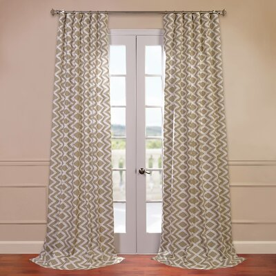 Half Price Drapes Palu Printed Cotton Semi Opaque Single
