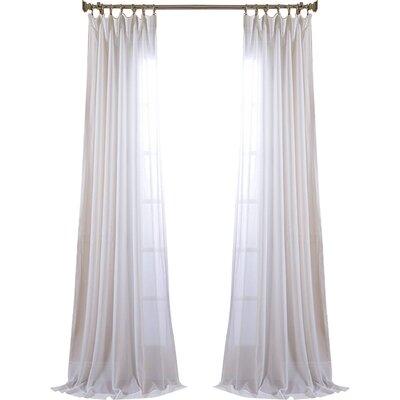 Half Price Drapes Sheer Pole Pocket Single Curtain Panel & Reviews ...