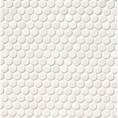 White Penny Round Tile Techieblogie Info