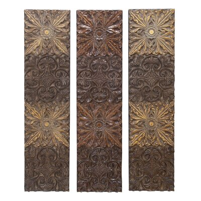 Rectangular Wall Art aspire 3 piece rectangular wall décor set & reviews | wayfair
