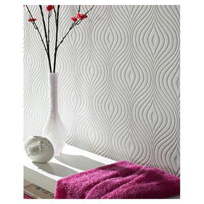 Flora Curvy 33 x 20 Geometric 3D Embossed Wallpaper Reviews