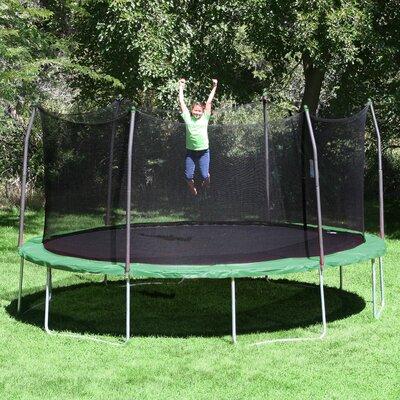 skywalker 17u0027 x 15u0027 oval trampoline with safety enclosure u0026 reviews wayfairca