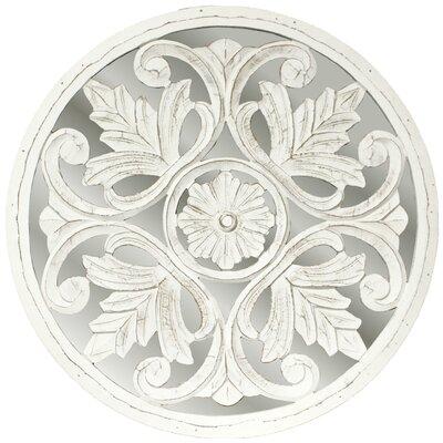 fetco home decor genet carved medallion mirror | wayfair