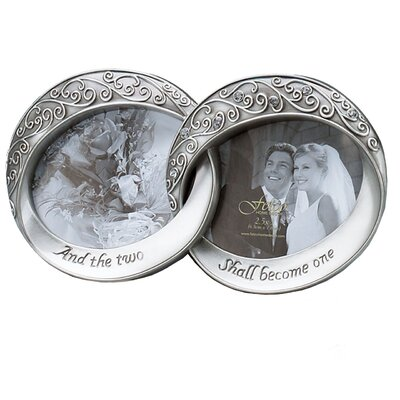 fetco home decor wedding melissa double rings picture frame