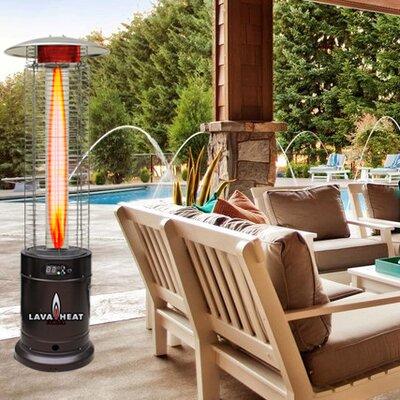 Lava Heat Cylindrical Commercial Flame 51,000 BTU Patio Heater   Wayfair