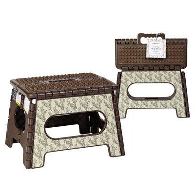 seda france 1step plastic toile leaf folding step stool with 200 lb load capacity u0026 reviews wayfair - Folding Step Stool