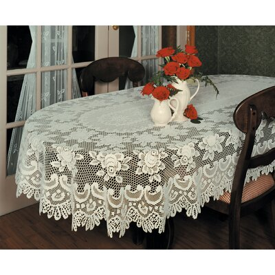 Heritage Lace Rose Oval Tablecloth Amp Reviews Wayfair
