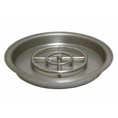american fireglass steel gas propane fire pit pan u0026 reviews wayfair - American Fireglass