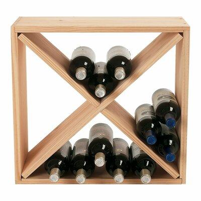 wine enthusiast companies stackable cube 24 bottle tabletop wine rack u0026 reviews wayfair