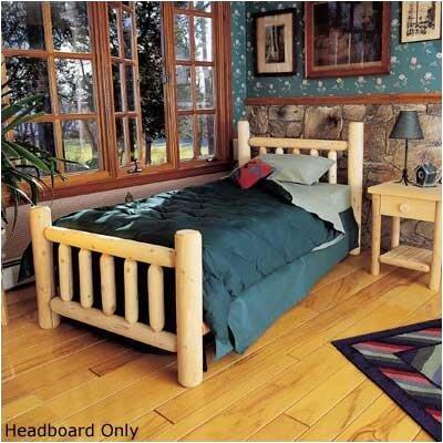 rustic cedar rustic log bed slat headboard reviews wayfair