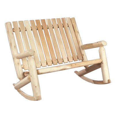 Outdoor Patio Furniture ... Wood Patio Rocking Chairs & Gliders Rustic ...