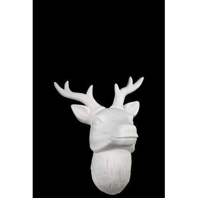 Urban Trends Porcelain Deer Head Wall Decor Gloss White Reviews