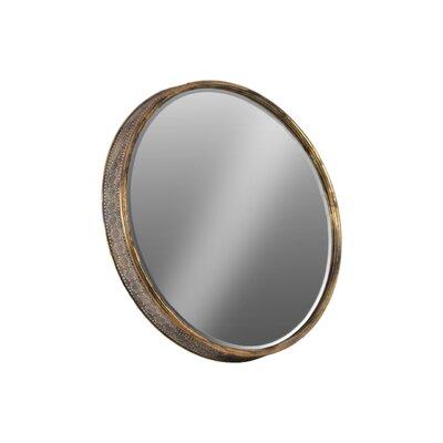 Round Wall Mirror urban trends metal round wall mirror & reviews | wayfair