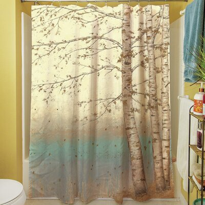 Manual Woodworkers & Weavers Golden Birch I Shower Curtain ...