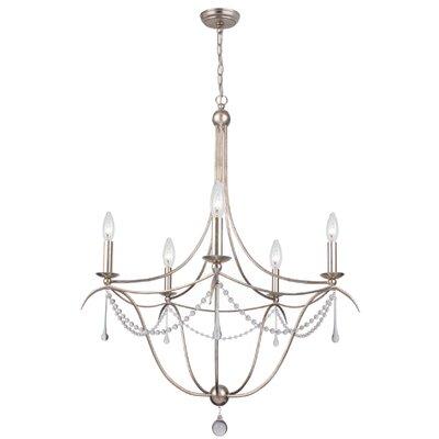 crystorama metro ii 5light candlestyle chandelier u0026 reviews wayfair - Crystorama