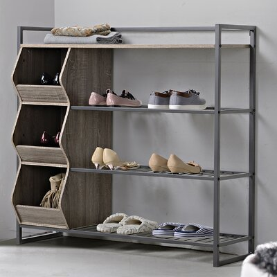 . Homestar 4 Tier Shoe Rack   Reviews   Wayfair