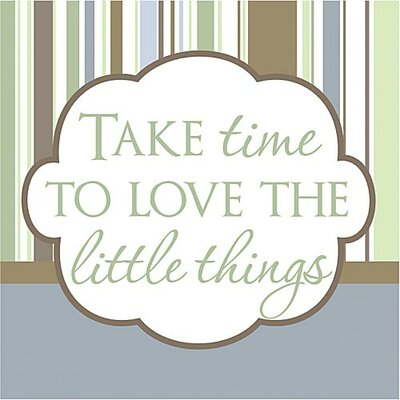 Forest Creations Take Time to Love the Little Things Kids Textual Art on Canvas