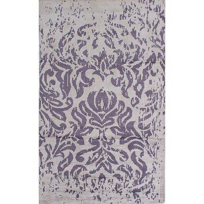 La Seda Handknotted Dark Creamdark Purple Area Rug