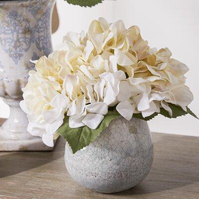 faux white hydrangea arrangement - White Hydrangea