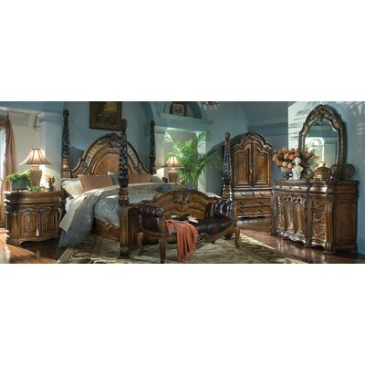 Michael Amini Oppulente Four Poster Configurable Bedroom Set U0026 Reviews |  Wayfair